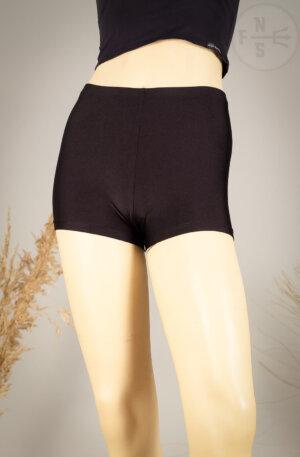 Spandex Hot Pants in schwarz aus glanz Nylon Material
